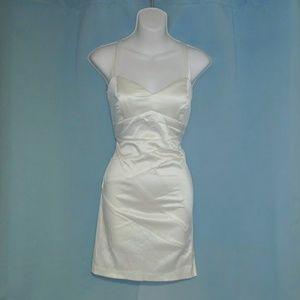 TRIXXI ivory satin-like bodycon dress, Sz 11